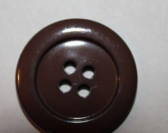 large plain button Brown four holes