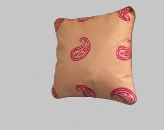 Handmade Full Leather Throw Pillow