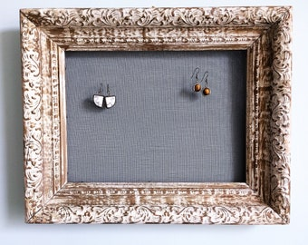 Picture Frame Earring Holder, Wooden Earring Organizer, Jewelry Holder, Jewelry Organizer, Wood Picture Frame Earring Organizer