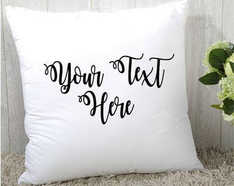 Mother's Day Gift, Custom Throw Pillow, Personalized Pillow, Decorative Pillow, 12 x 12 Accent Pillow, Pillow with Stuffing, Create Your Own