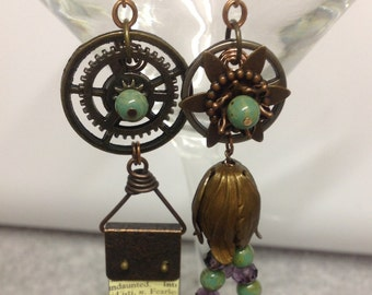 Mismatched Mixed-media Earrings