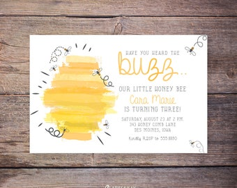 Bee day birthday party kit bumble bee themed 1st birthday 2nd bumble bee birthday invitations printable bumble bee party invite bee party bee themed filmwisefo Images