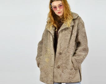 Vintage 70's Shearling Sherpa Winter Coat