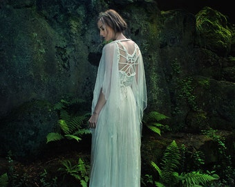 """Draped handmade (Wedding-) Dress """"Owl"""", ROHMY Gold Label /// Bridal Gown /// Evening Gown /// Red Carpet /// Eden Collection"""