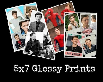 Tom Holland Glossy 5x7 Photo Print 4 Designs To Choose From