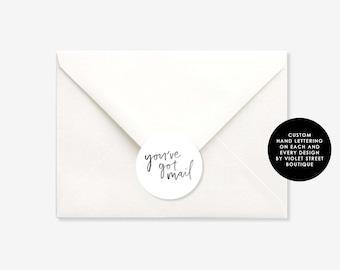 Printable Print at Home Sticker Seal, Wedding Seal, Envelope Seal, Wedding Envelope Seal, Wedding Sticker, Bon Bon