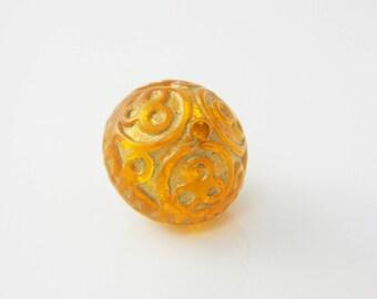 2 x 17mm orange (l1231) baroque Pearl