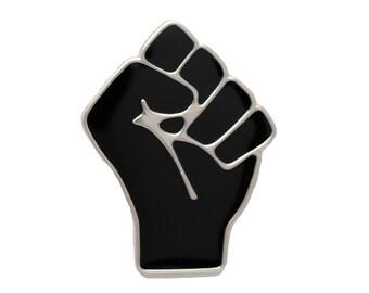 Black Raised Fist of Solidarity