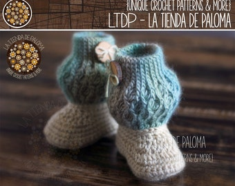 INSTANT DOWNLOAD - Crochet Pattern Dancing Waves Baby Boots