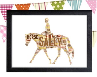 Personalized Gift Horse Gifts For Horse Rider Gift Horse Wall Art Wall Prints Wall Art Wall Decor Personalised Gift Wall Art Prints