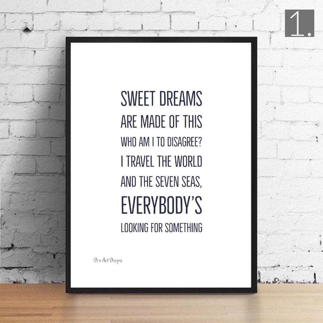 Eurythmics/ Annie Lennox Inspired Sweet Dreams Lyrics