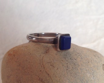 Lapis Lazuli and Sterling Silver Ring Artisan Made