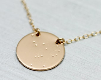 Constellation necklace - orion constellation necklace - dainty gold necklace - orion constellation jewelry - star sign astrology jewelry