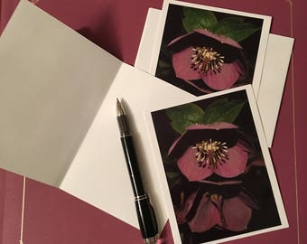 Lenten Rose Cards (3-pk blank greeting cards)