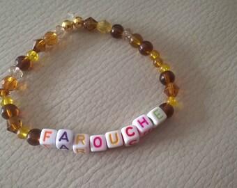 message bracelet Wild Honey beads