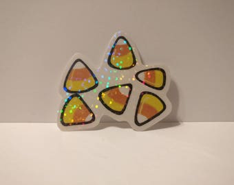 A cluster of candy corn, sticker