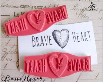 Cat Kerr Brave Heart Rubber Foam Mounted Stamp