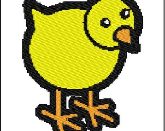Cute Bird Embroidery Design