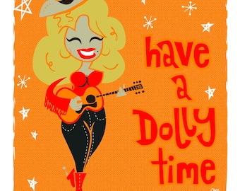 Dolly Parton Country Retro Greeting Cards