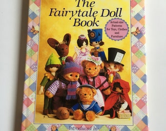 Soft toys pattern book, The Fairytale Doll Book, Valerie Janitch 1988.
