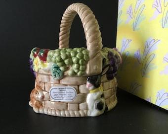 Vintage Bunny Basket