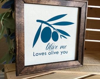 Olive Me Canvas Art