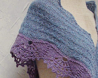 Pattern A Shawl With Lace Edging hand knit shawl pattern