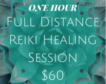 Reiki healing session hour