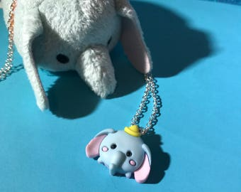 SALE //Dumbo Tsum Tsum Necklace // Disney Style Inspired // DisneyBound Jewelry / Ready to Ship! Gifts & Stocking Stuffers for Her Under 10
