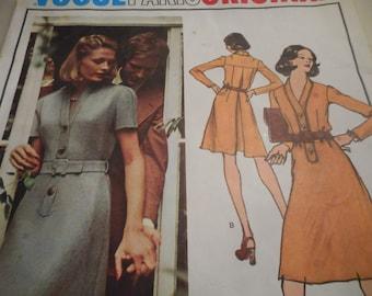 Vintage 1970's Vogue 2902 Paris Original Pierre Balmain Dress Sewing Pattern Size 16 Bust 38