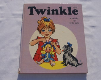 1974 Twinkle Annual - vintage annual for little girls - hardback book