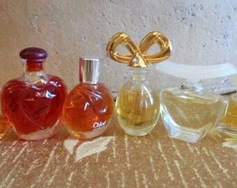3 Vintage Mini Perfumes Vanderbuilt Victoria Rapture White  Diamonds
