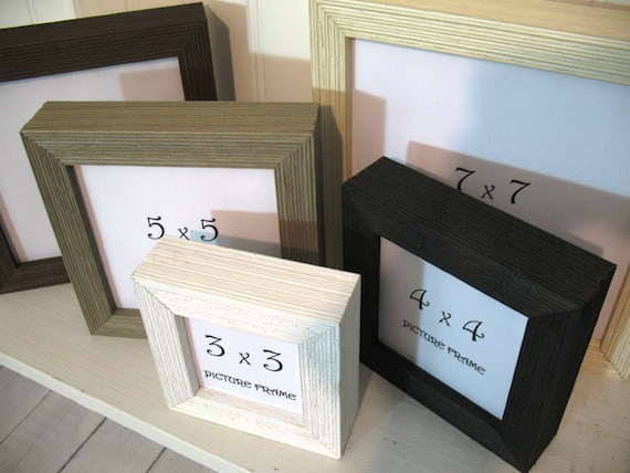 DEEP PROFILE BARNWOOD Square Frame 3x3 4X4 5x5 6x6 7x7 Black White ...
