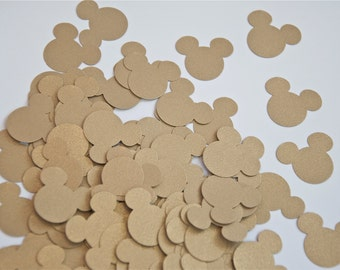 100 Hand Punched Mickey Mouse- Lumiere Metallic Gold
