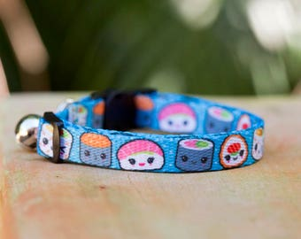 Sushi Cat Collar / Sushi Toy Breed Dog Collar / XXS - Small Dogs / Australian Made