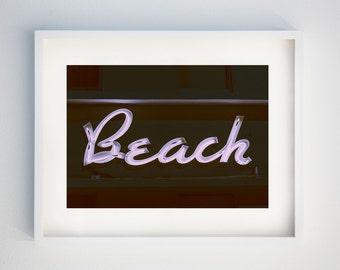 Surf Decor, Beach House Decor, Vintage Motel Sign, Beach Photograph, Vintage Beach Art, Neon Sign Art, Surf Wall Art, Surf Wall Decor