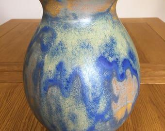 Pottery vase. Large handmade porcelain vase. Wheel thrown