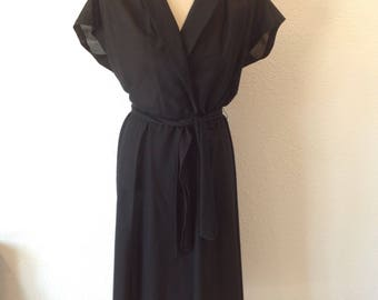 50s Vintage Butte Black Dress