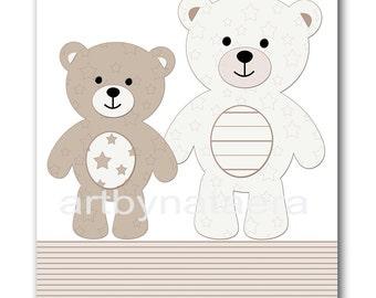 Nursery Art Print Baby Boy Nursery Decor Kids Wall Art Baby Boy Room Decor Boy Nursery print teddy bears decoration