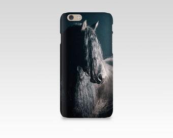 Black Horse Phone Case, iPhone 7 case, Samsung S7, iPhone 6, iPhone 5 case, Samsung S6, Equine Photography, iPhone 7 Plus, Friesian