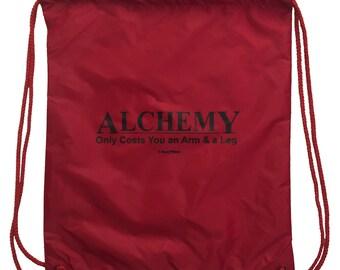 Fullmetal Alchemist Drawstring Nylon Geek Backpack Alchemy Only Costs an Arm and a Leg