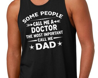 Gift For Father Tank Top Doctor Dad Tank Top