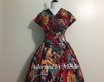 VA VA VOOM African Print Dress