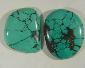 Genuine Natural Chinese Turquoise Lapidary Freeform Cabochon 9523C
