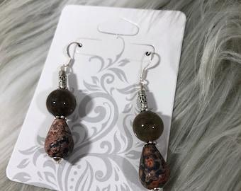 Jasper and agate earings