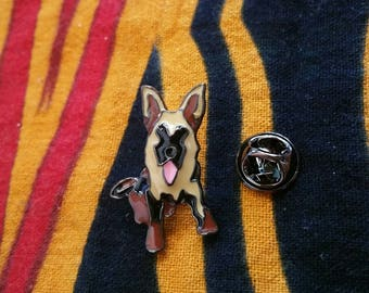 Abstract German Shepherd Mini Pin