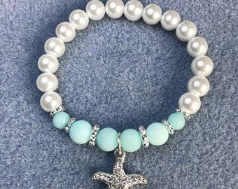 Starfish pearl elastic bracelet