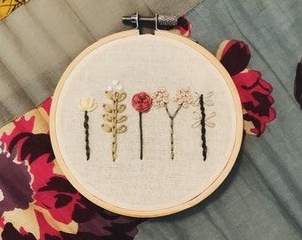 Wildflower Floral Embroidery Hoop
