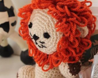 Beautiful lion amigurumi, plushie, stuffed crochet