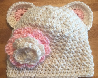 Baby teddy bear hat